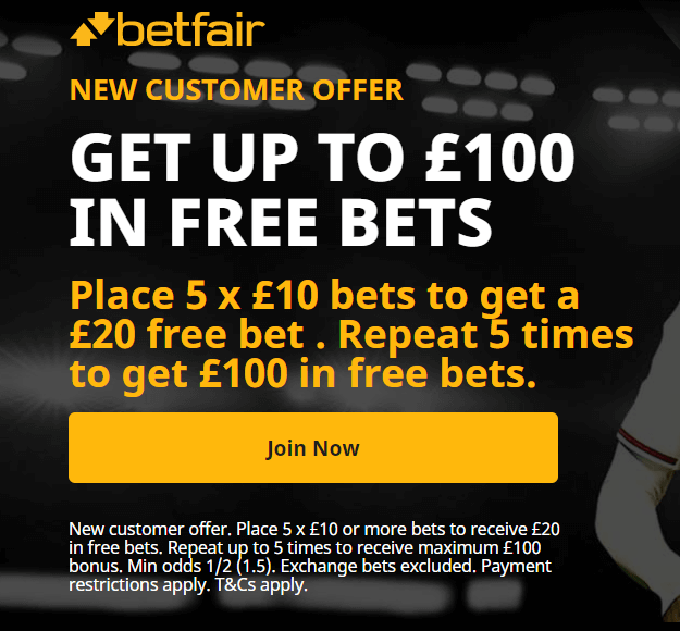 Betfair Welcome Offer