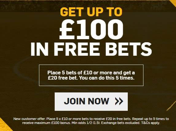 betfair welcome bonus offer